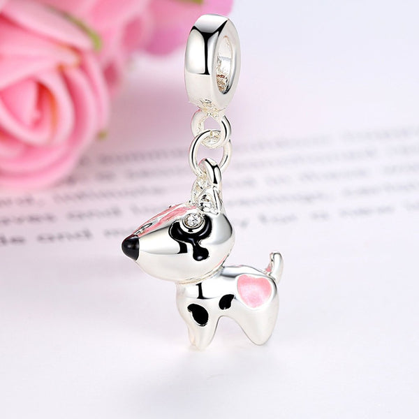 【Environmental Zinc Alloy】Lucky Dog Charms For Bracelets&Necklaces