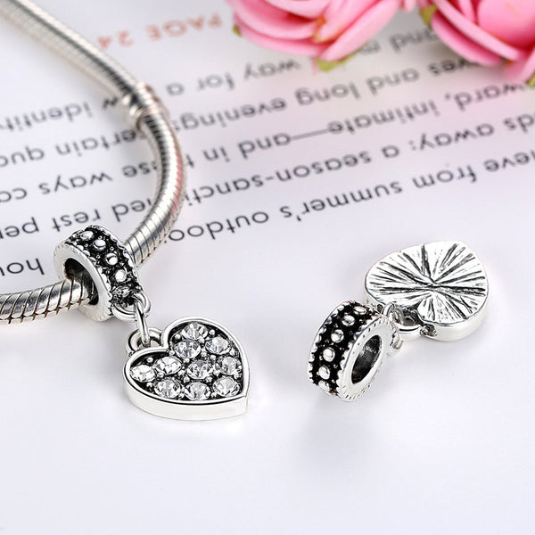 【Environmental Zinc Alloy】Heart Pendent Charms For Bracelets&Necklaces