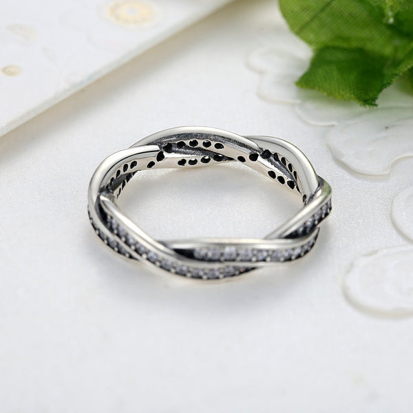 【925 Sterling Silver】The Braided Pave Ring