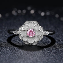Load image into Gallery viewer, [925 Sterling Silver] Magnoia Flower Finger Ring