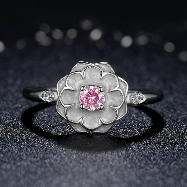 [925 Sterling Silver] Magnoia Flower Finger Ring