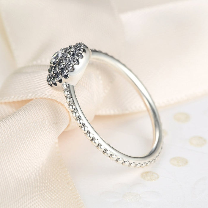【925 Solid Sterling Silver】 Love Heart Finger Ring (Size 6-8  )