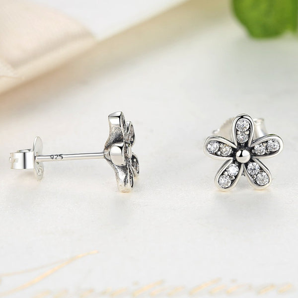 [925 Stering Silver] Dazzling Daisy Earrings