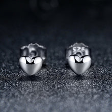 Load image into Gallery viewer, 【925 Sterling Silver】 Heart Shape Silver Earrings