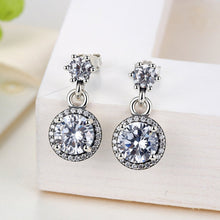 Load image into Gallery viewer, 【925 Sterling Silver + Clear Cubic Zirconia】Everlasting Elegant Drop   Earrings