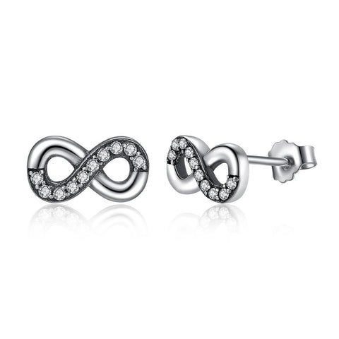 [925 STERLING SILVER] Endless Love Earrings