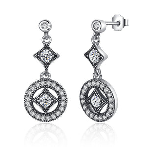 【925 Sterling Silver+Cubic Zircon】The One Drop  Earrings
