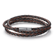 Load image into Gallery viewer, 【Adjustable Length】 Magnet Head Leather  Bracelets  (Black&Brown)