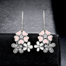 Load image into Gallery viewer, [100% 925 Sterling Silver] Poetic Daisy Cherry Blossom Earrings
