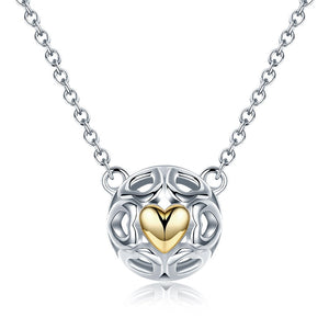 【100% 925 Sterling Silver】Love Heart Pendant  Necklaces