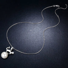 Load image into Gallery viewer, 【100% 925 Sterling Silver+Pearl】 Cute Cat Pendant Necklaces