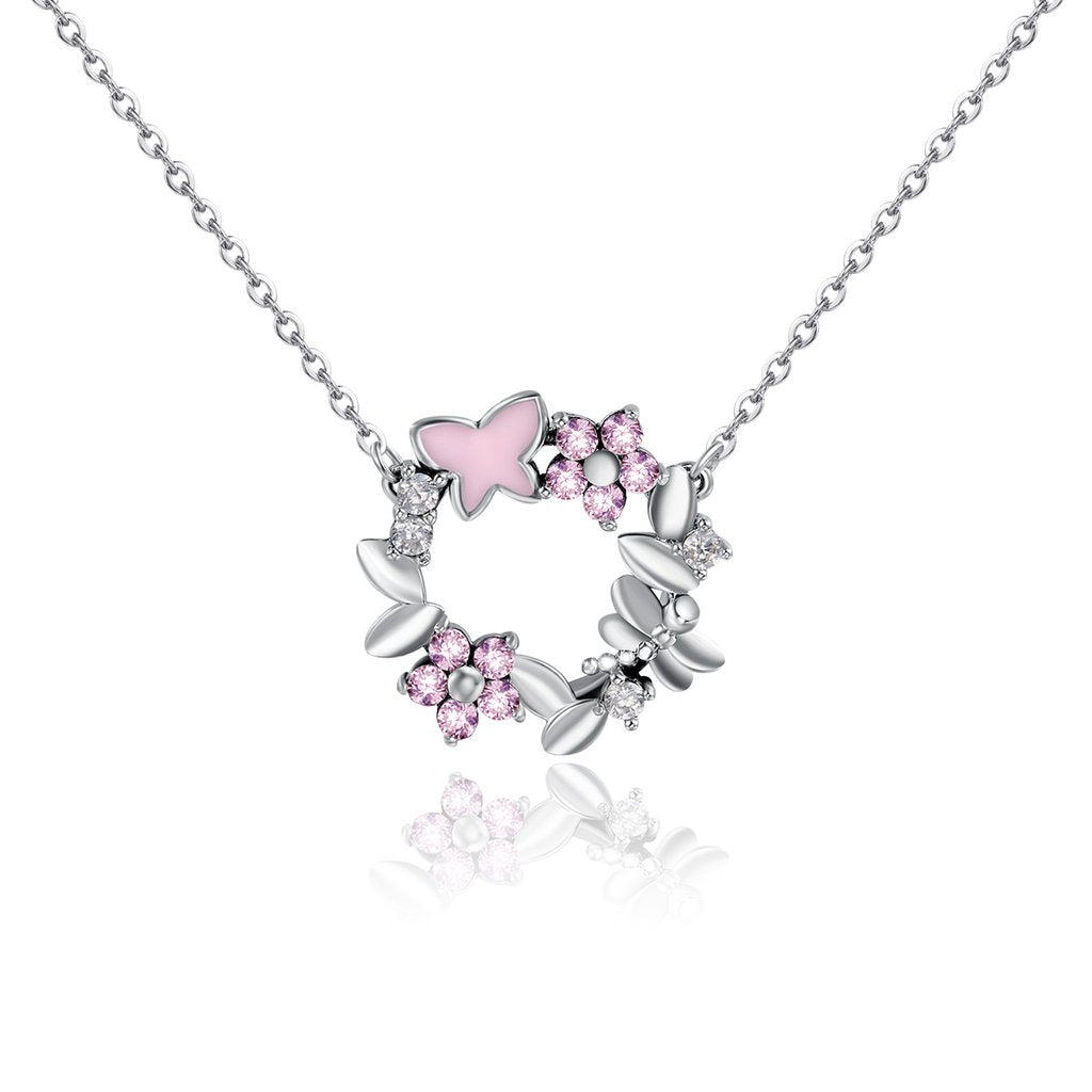 【100% 925 Sterling Silver】  Cherry Blossom Necklaces