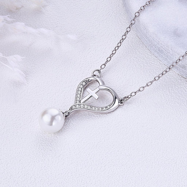 【925 Sterling Silver + Clear Cubic Zirconia+Pearl】Beautiful Necklaces