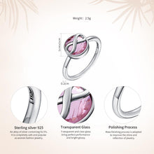 Load image into Gallery viewer, [925 Sterling Silver] Pink Crystal Infinity Love Finger Rings