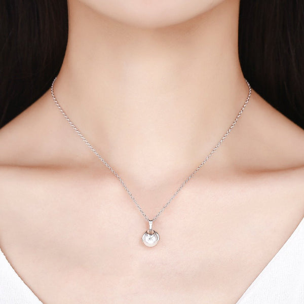 【100% 925 Sterling Silver+Pearl】 Pearl Pendant  Necklaces
