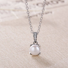 Load image into Gallery viewer, 【100% 925 Sterling Silver+Pearl】Cubic Zircon&Pearl Pendant  Necklaces