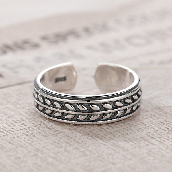 【925 Sterling Silver】Adjustable Open Ring