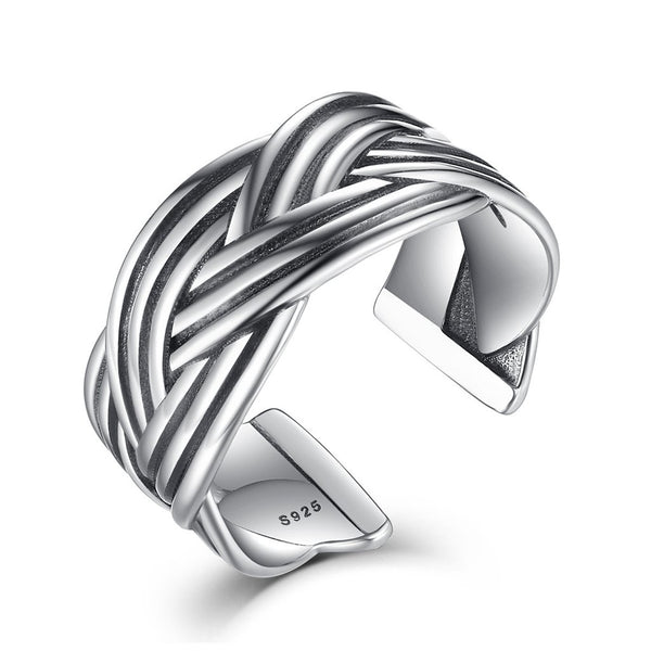 【925 Sterling Silver】Infinite Open Ring (Adjustable size )