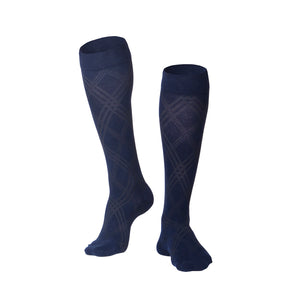 MEN'S NAVY ARGYLE PATTERN COMPRESSION SOCKS