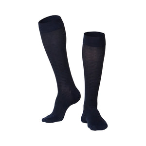 MEN'S BLACK FINE CHECKERED PATTERN COMPRESSION SOCKS