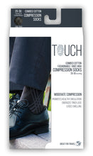 MEN'S BLACK ARGYLE PATTERN COMPRESSION SOCKS PACKAGING