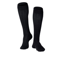 MEN'S BLACK INTELLIGENT RIB PATTERN COMPRESSION SOCKS