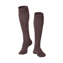 MEN'S BROWN INTELLIGENT RIB PATTERN COMPRESSION SOCKS
