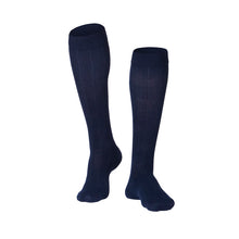 MEN'S NAVY INTELLIGENT RIB PATTERN COMPRESSION SOCKS