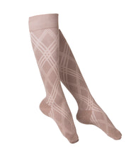 LADIES' TAN ARGYLE PATTERN COMPRESSION SOCKS