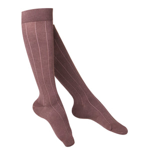 LADIES' BROWN INTELLIGENT RIB PATTERN COMPRESSION SOCKS