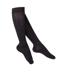 LADIES' BLACK INTELLIGENT RIB PATTERN COMPRESSION SOCKS