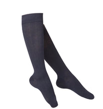 LADIES' NAVY INTELLIGENT RIB PATTERN COMPRESSION SOCKS