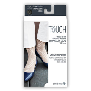 LADIES' ARGYLE PATTERN COMPRESSION SOCKS PACKAGING