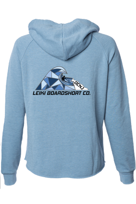 "Leiki ""Diamond Wave"" Zip Hoodie by Tim Smith-Leiki Boardshort Co."