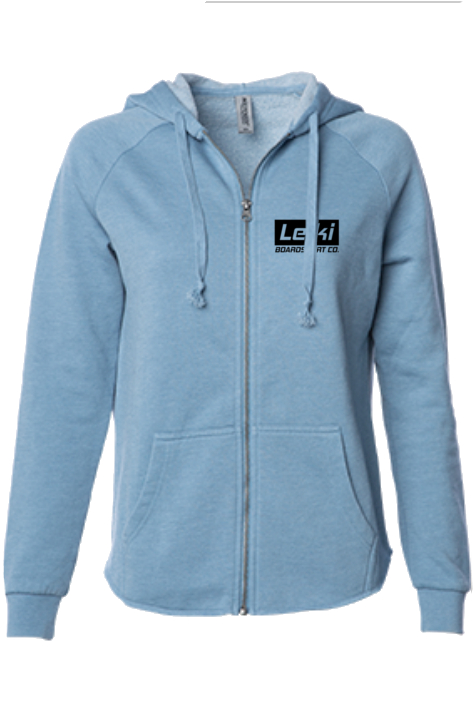 "Leiki ""Diamond Wave""  Zip Hoodie by Tim Smith - Leiki Boardshort Co."