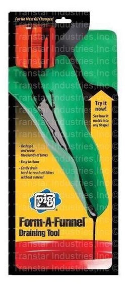 Form-a-funnel oil draining tool flexible oil funnel