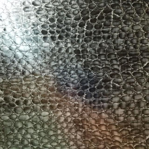 Black alligator leather vinyl