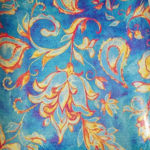 Printed Blue Paisley holographic PSV craft vinyl