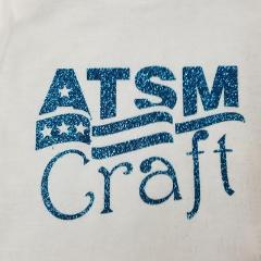 Light blue glitter heat transfer vinyl