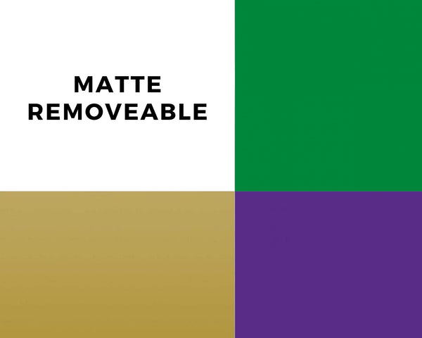 Matte removable craft film mardi gras sample pack