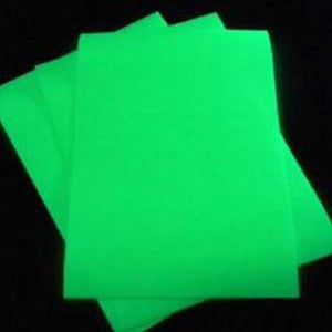 Glow in the dark craft film, self adhesive, pressure sensitive