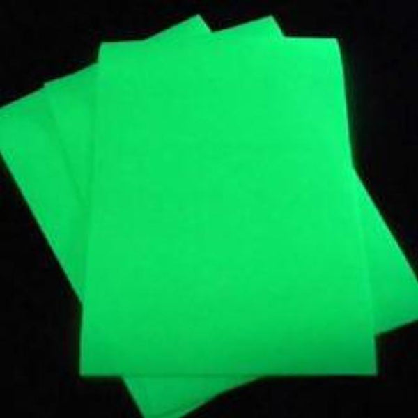 Permanent Self Adhesive Glow in the dark craft vinyl.