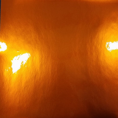 Self Adhesive Orange gloss craft vinyl, looks like polished metal