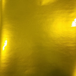Permanent Self Adhesive Polished Metal Yellow, high gloss craft vinyl