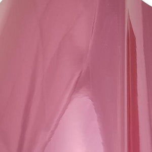 Shiny pink chrome metallized craft film.  Self adhesive and pressure sensitive.