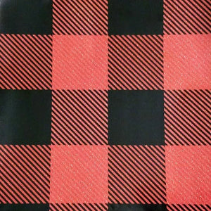 Buffalo plaid printed holographic PSV craft vinyl