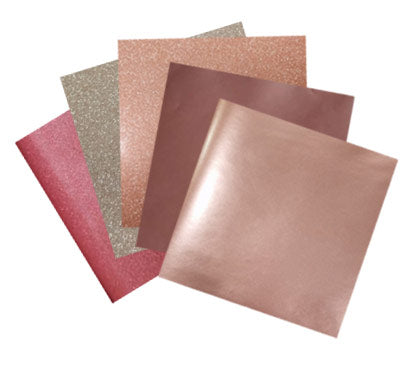 Rose Gold craft vinyl sample pack, PSV and HTV