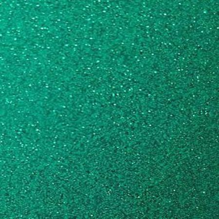 Permanent Self Adhesive Transparent Glitter Teal craft vinyl