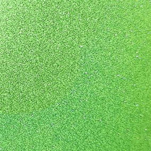 Lime green self adhesive transparent glitter