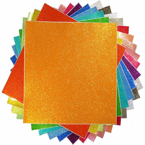 Transparent Glitter craft vinyl sample pack